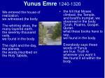 yunus emre 1240 1320