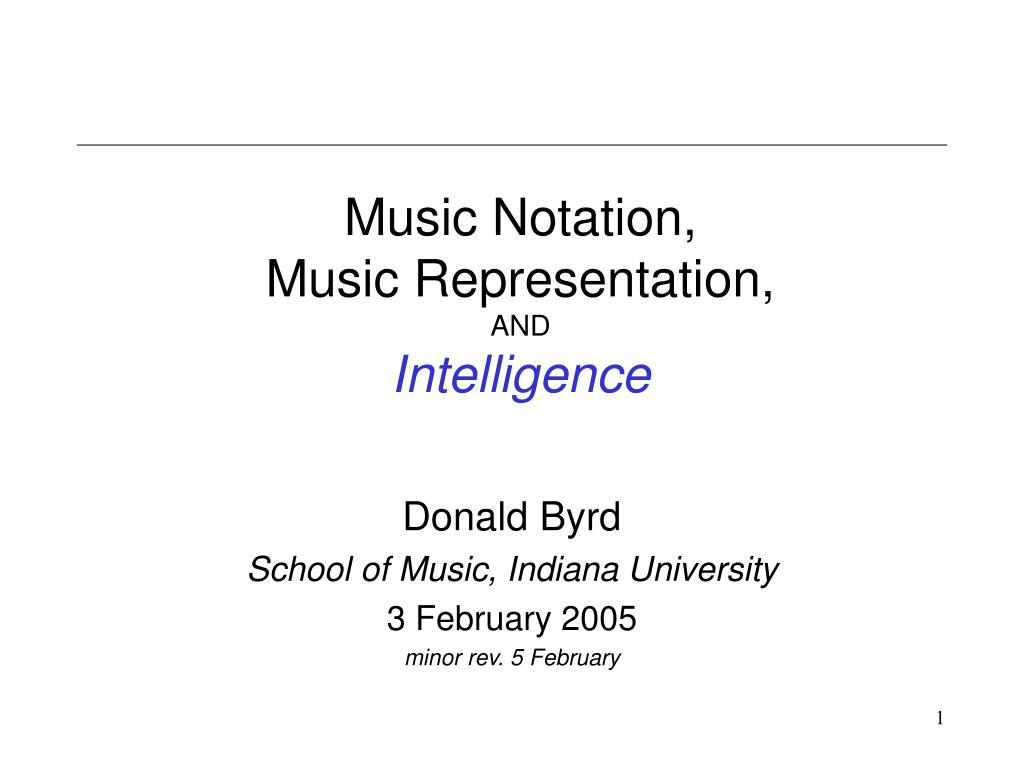 music notation music representation and intelligence l.