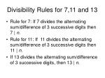 divisibility rules for 7 11 and 13