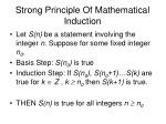 strong principle of mathematical induction
