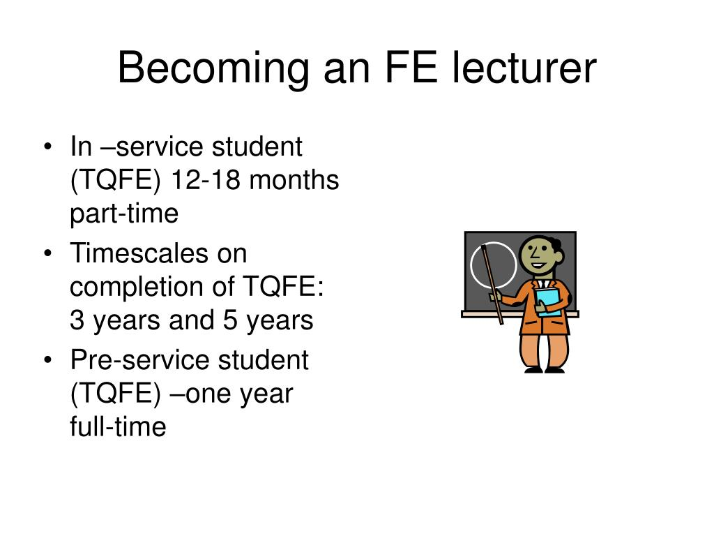 Becoming an FE lecturer