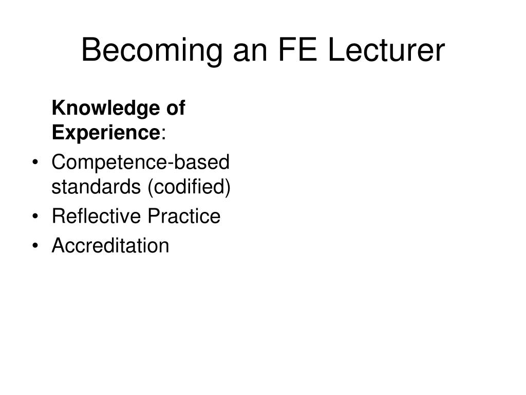 Knowledge of Experience