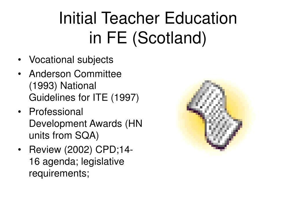 Initial Teacher Education
