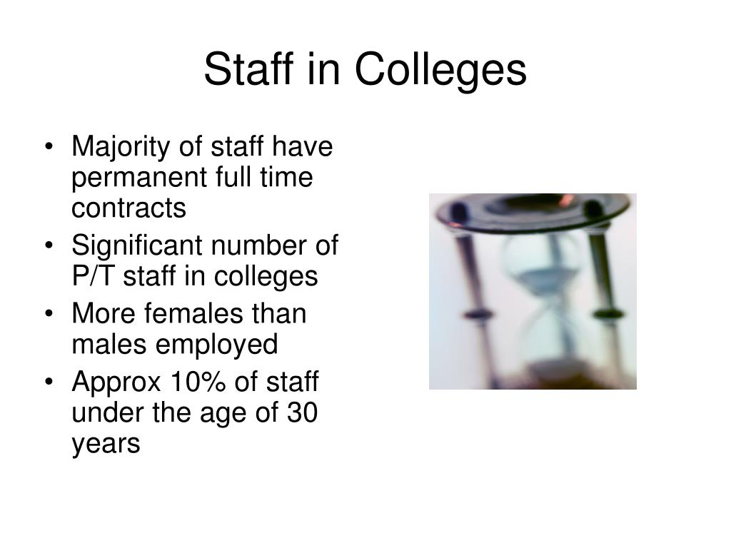 Staff in Colleges