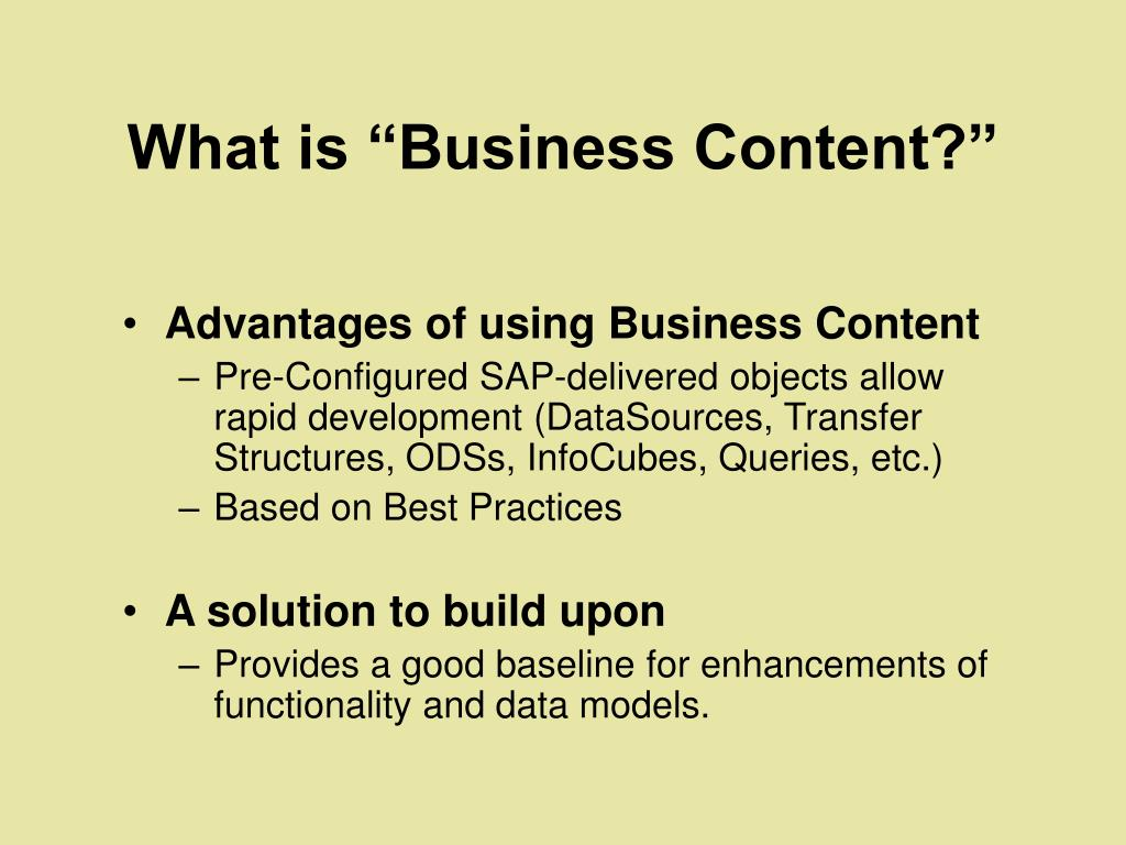 """What is """"Business Content?"""""""