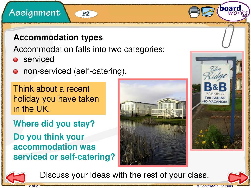 Assignment: Accommodation types