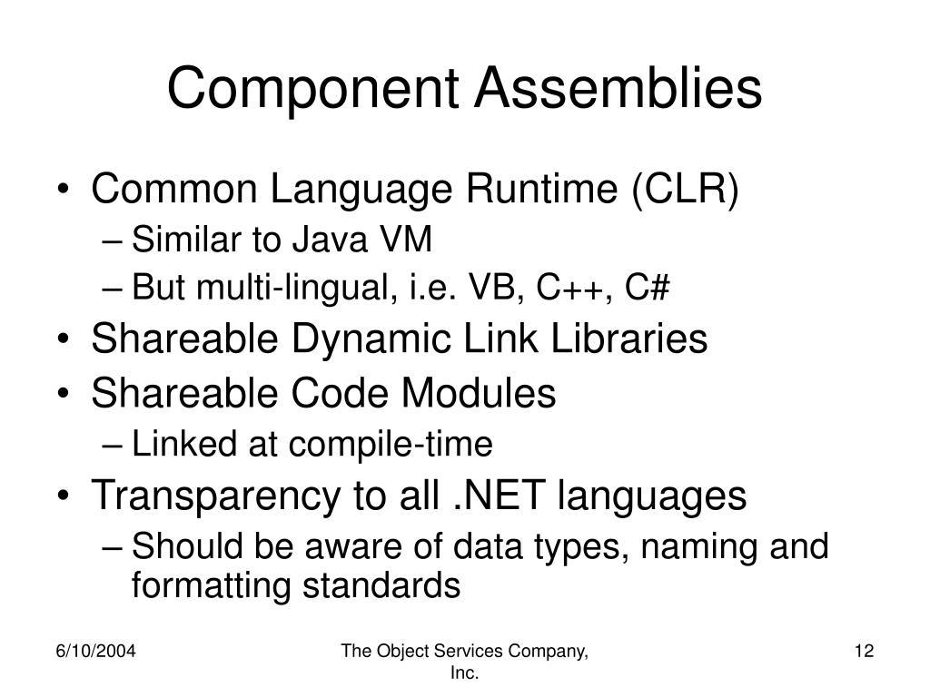 Component Assemblies
