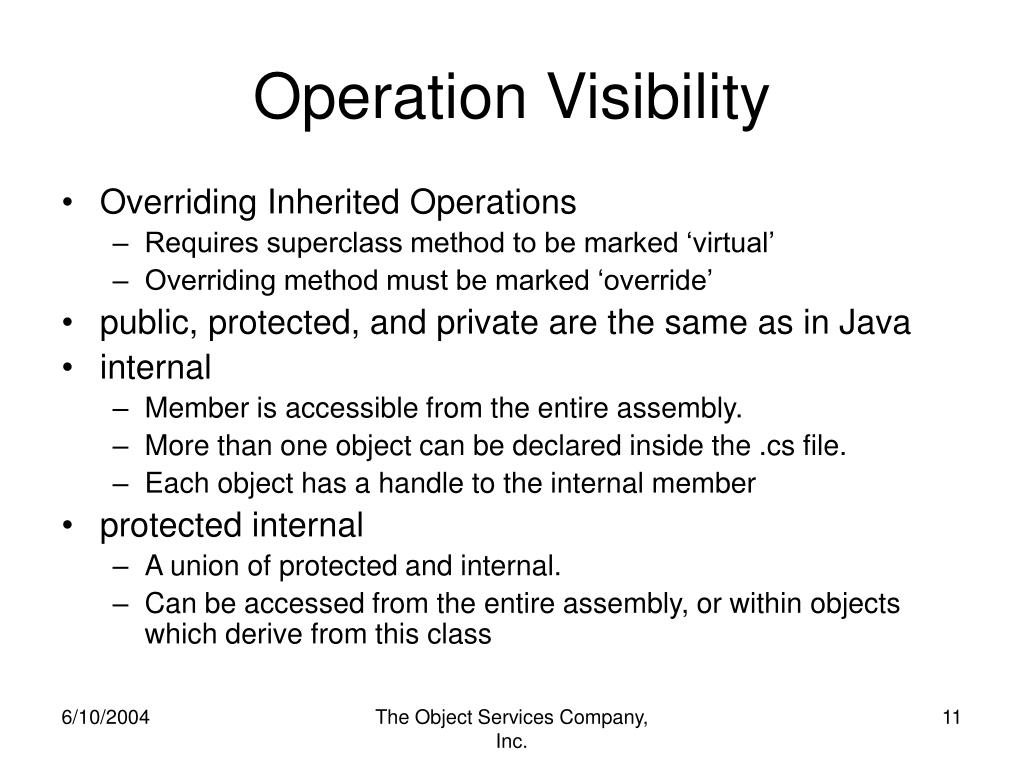 Operation Visibility