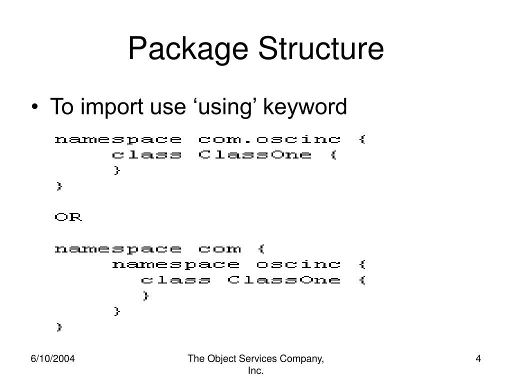 Package Structure