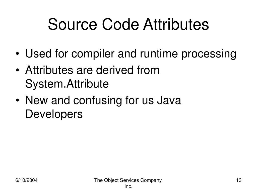 Source Code Attributes
