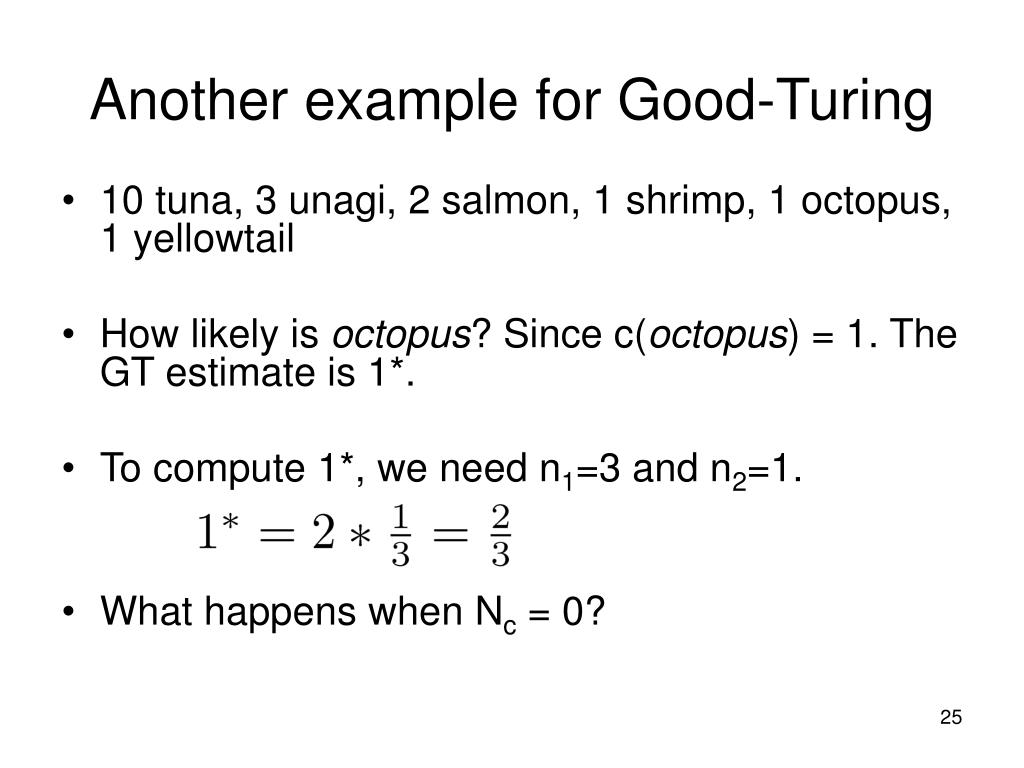 Another example for Good-Turing