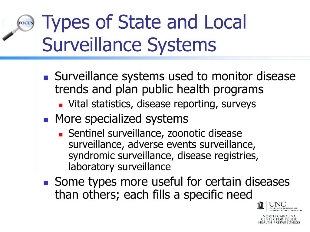 Types of State and Local Surveillance Systems