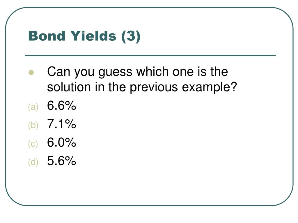 Bond Yields (3)