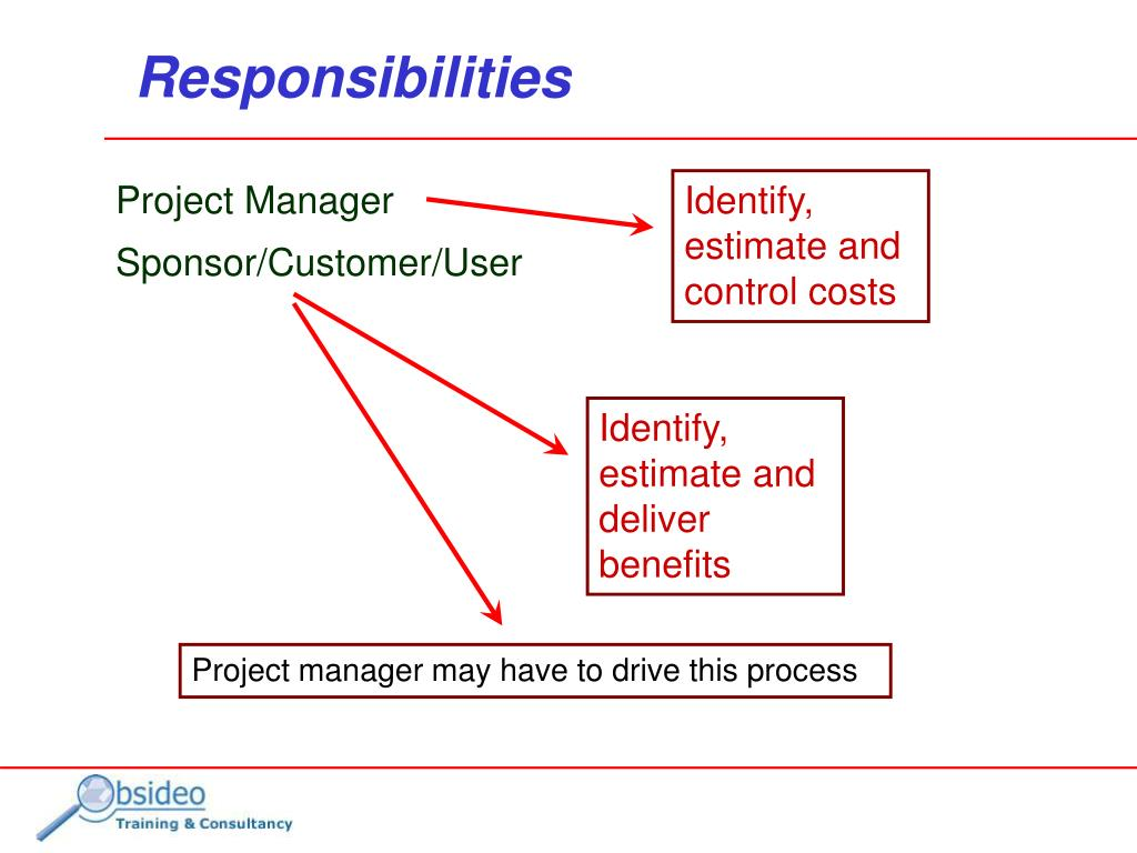 Identify, estimate and control costs