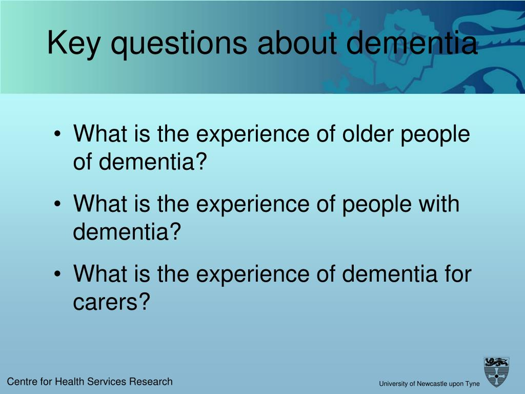 Key questions about dementia