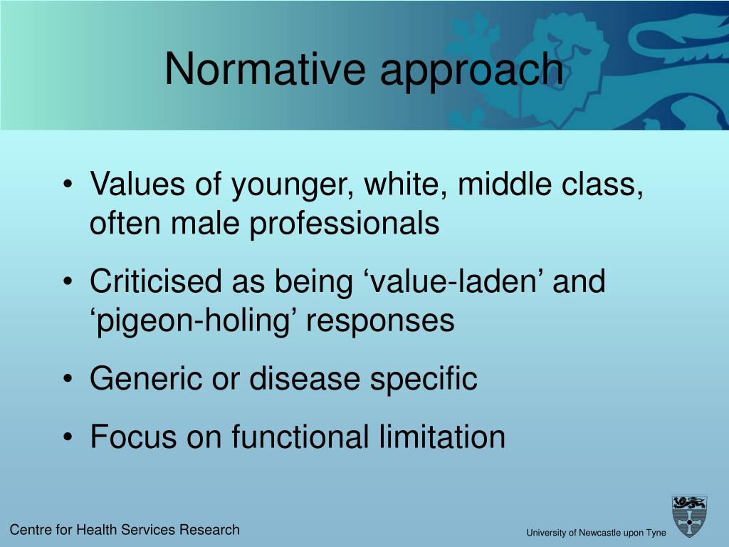 Normative approach