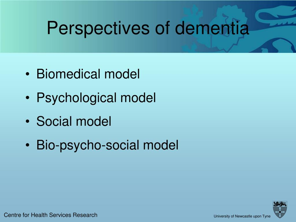 Perspectives of dementia