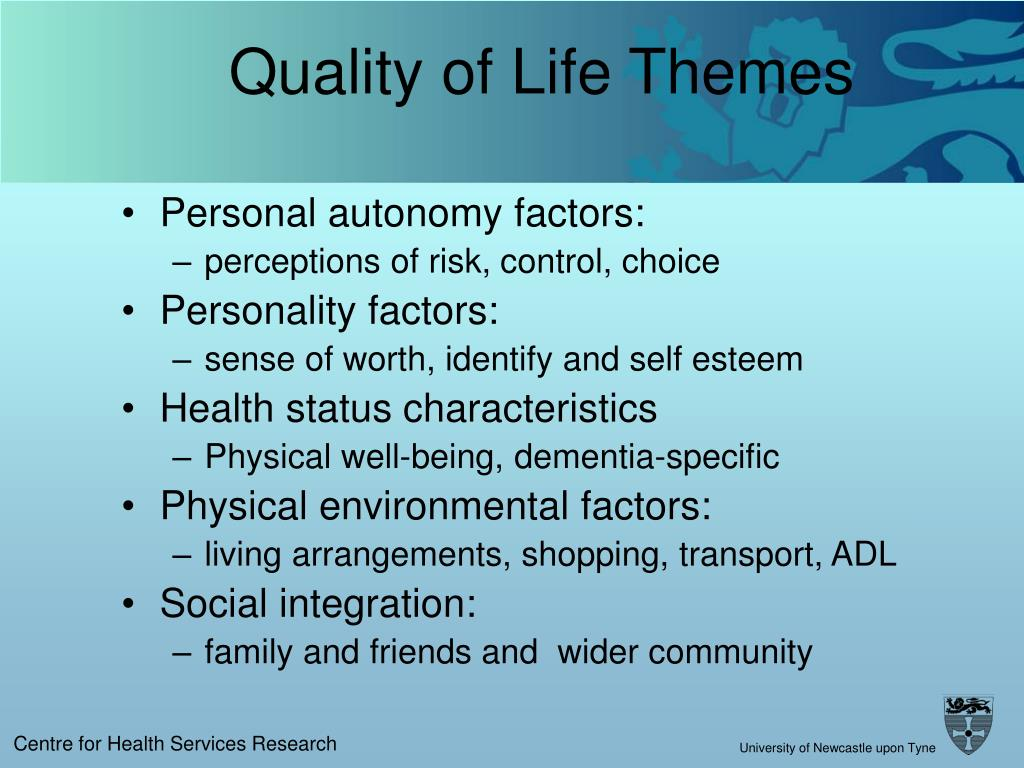 Quality of Life Themes