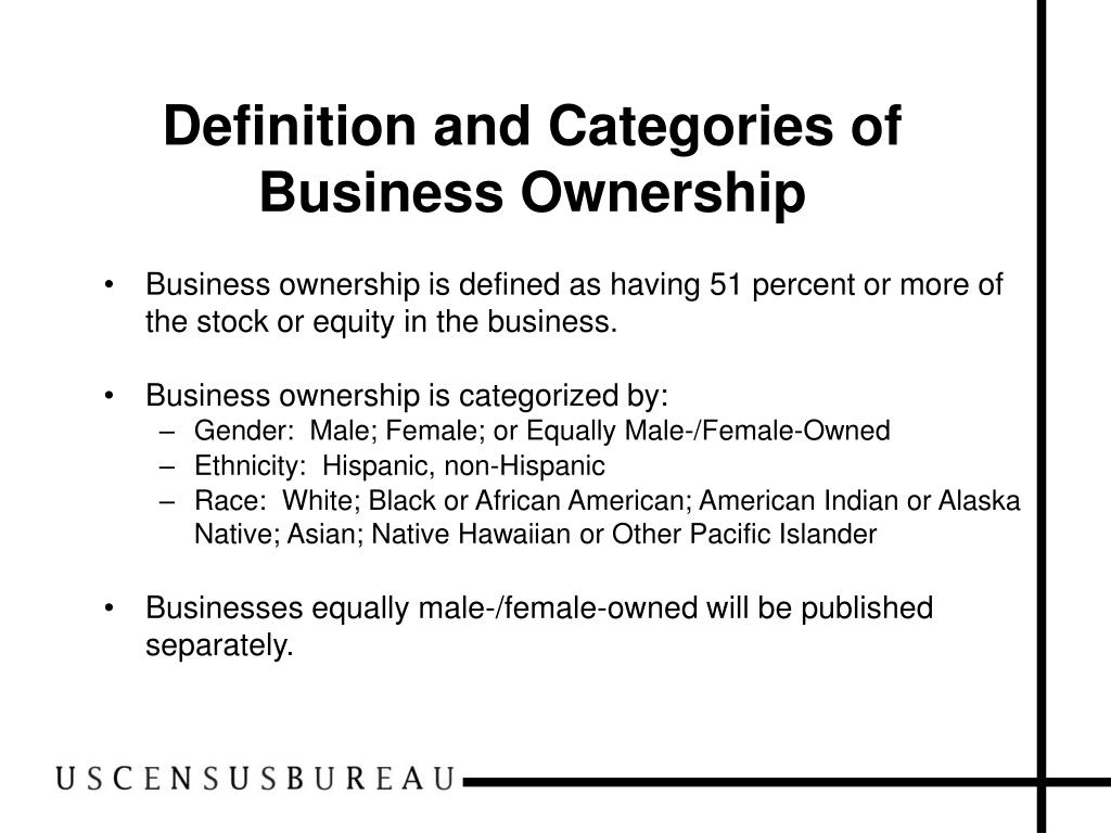 Definition and Categories of Business Ownership