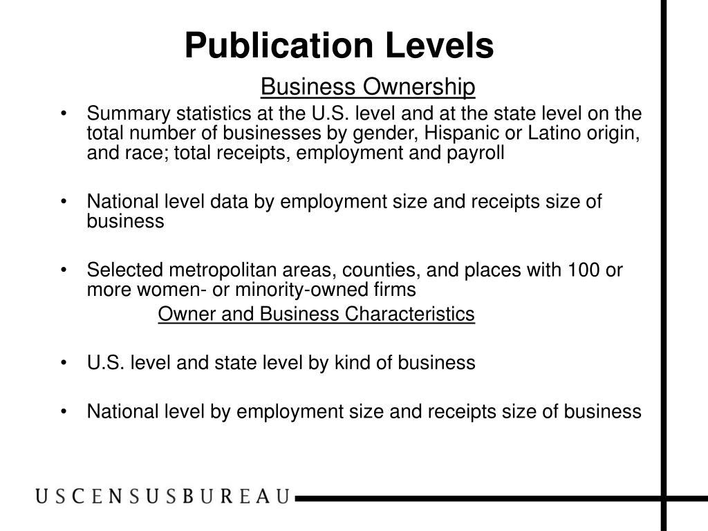 Publication Levels