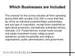 which businesses are included