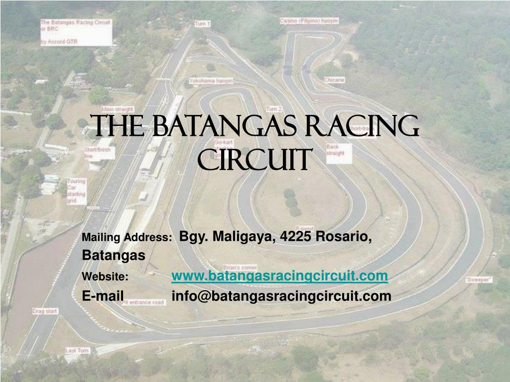 the batangas racing circuit l.