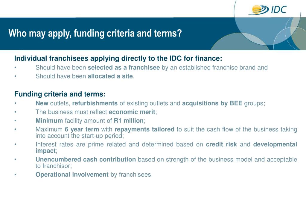 Who may apply, funding criteria and terms?