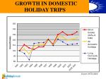 growth in domestic holiday trips