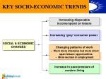 key socio economic trends