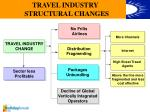 travel industry structural changes