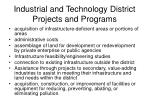 industrial and technology district projects and programs11