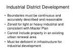 industrial district development