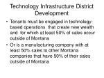 technology infrastructure district development