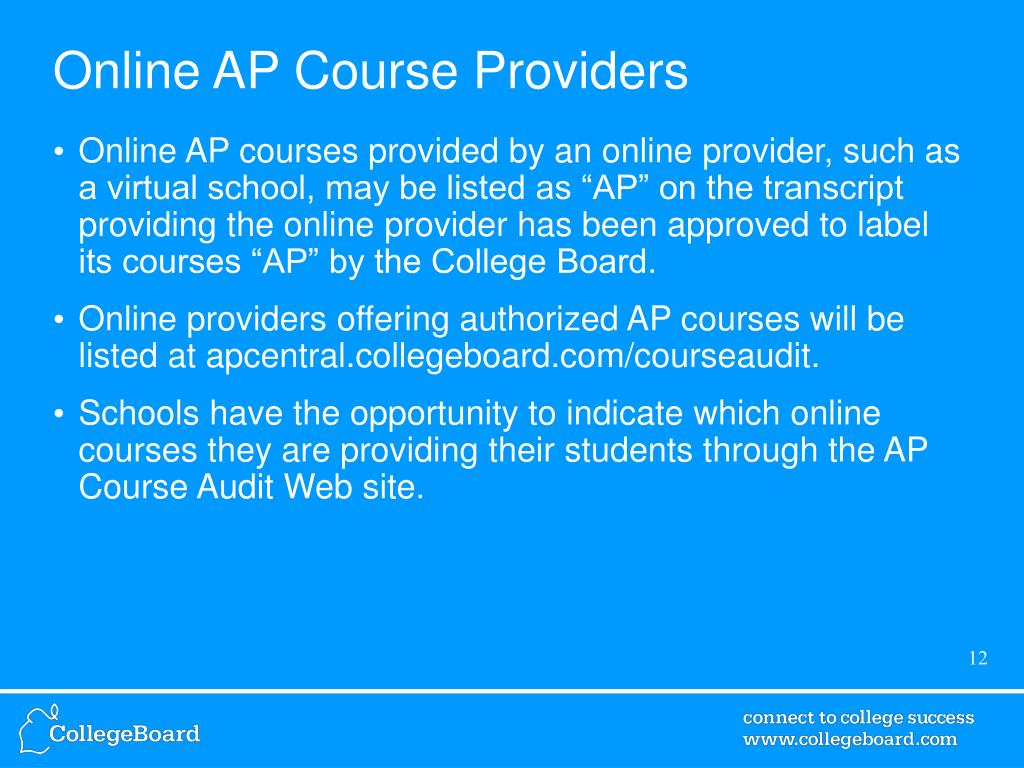Online AP Course Providers