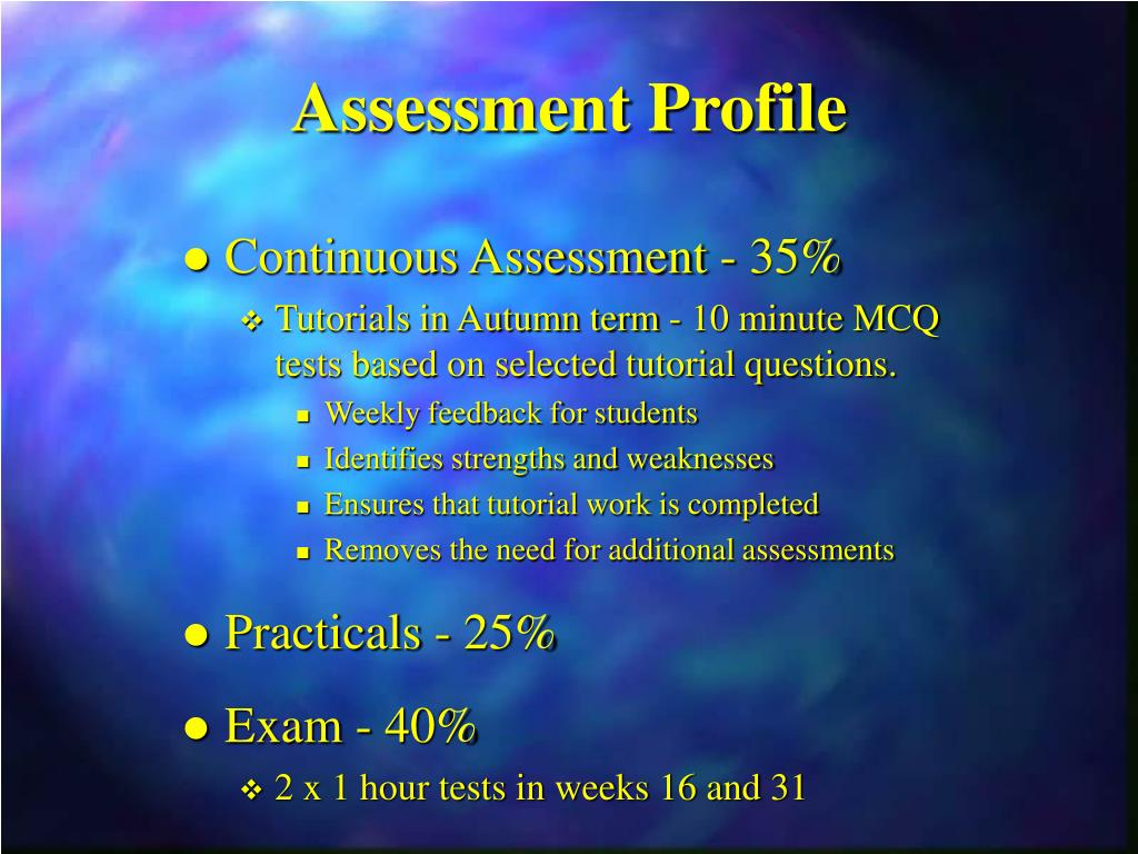Assessment Profile