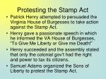 protesting the stamp act16