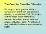 the colonies take the offensive70