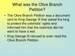 what was the olive branch petition