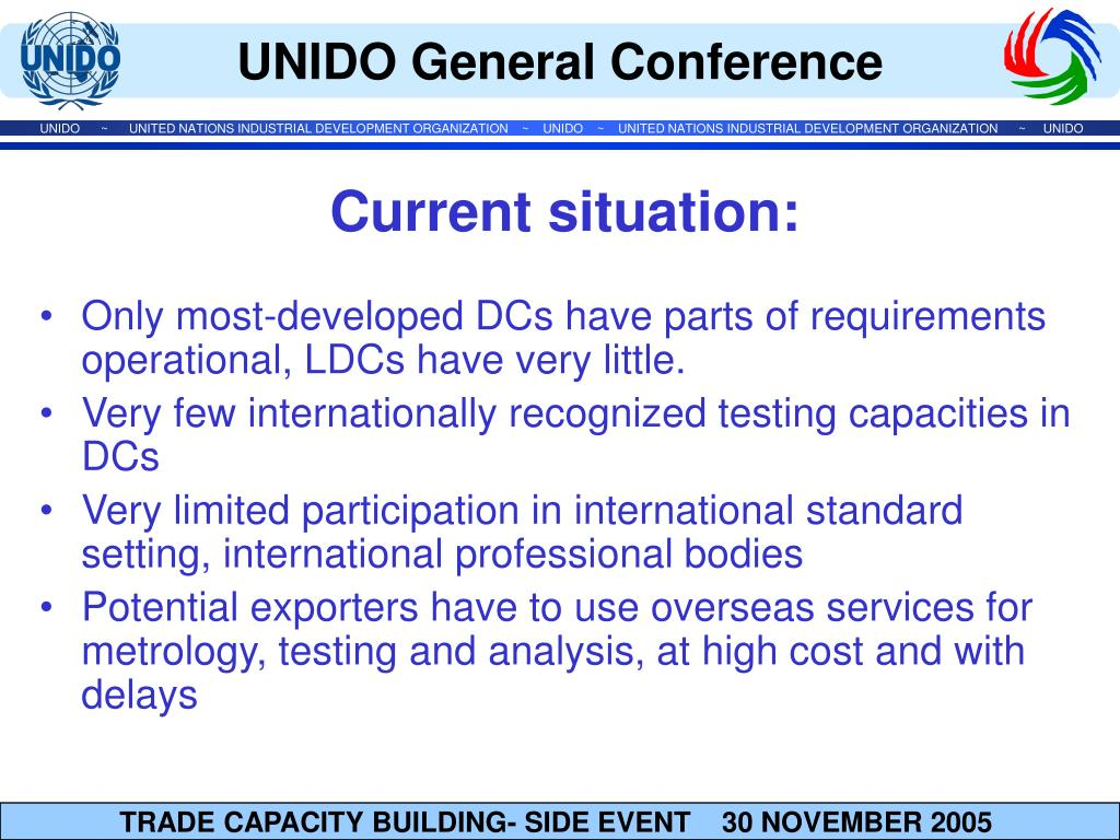 Only most-developed DCs have parts of requirements operational, LDCs have very little.