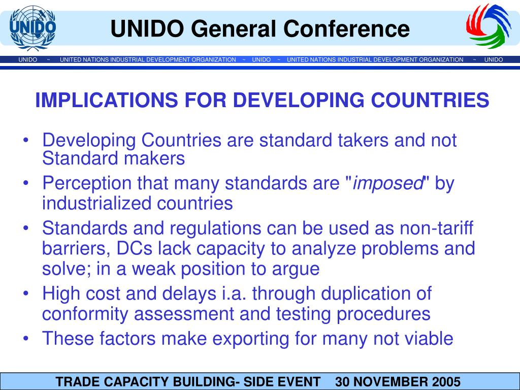 Developing Countries are standard takers and not Standard makers