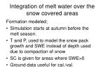 integration of melt water over the snow covered areas39