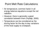 point melt rate calculations35