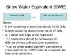 snow water equivalent swe11