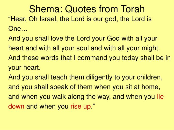 Shema: Quotes from Torah