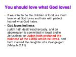 you should love what god loves