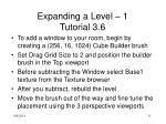 expanding a level 1 tutorial 3 6