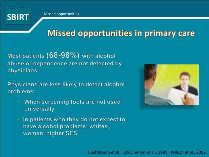 Missed opportunities in primary care