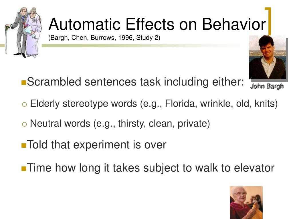 Automatic Effects on Behavior