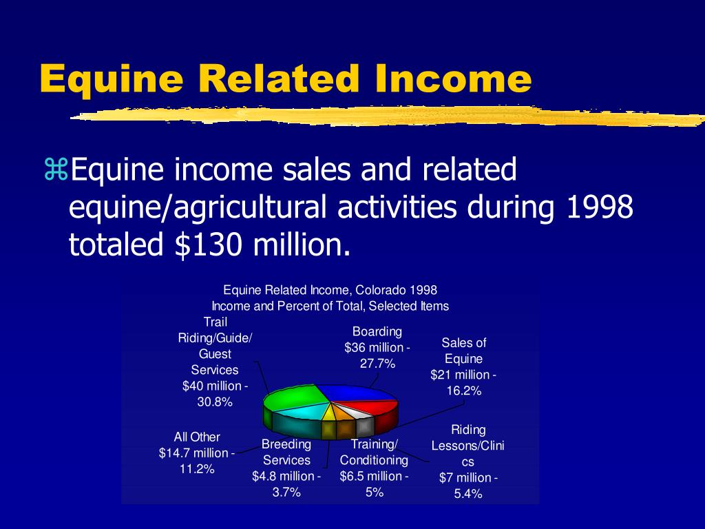 Equine Related Income