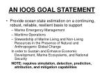 an ioos goal statement